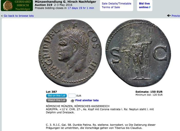 Agrippa fake