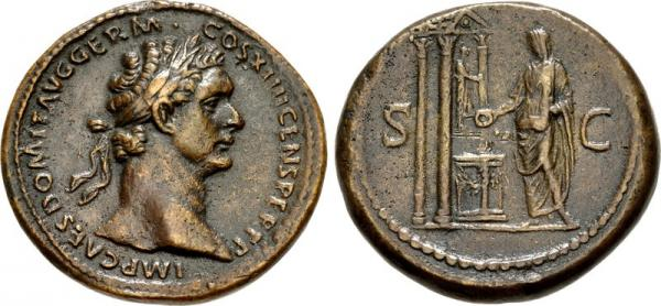 Fake sestertius of Domitian, the forgery that cheated (almost) anyone.