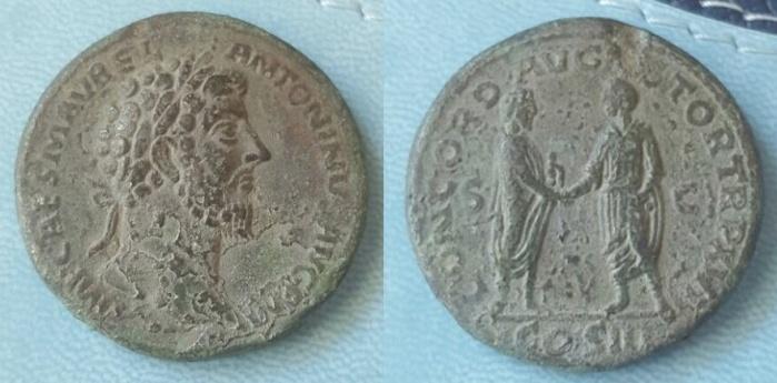 sestertius of Marcus Aurelius