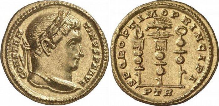 Constantine I solidus RIC 815 Gorny 159-474