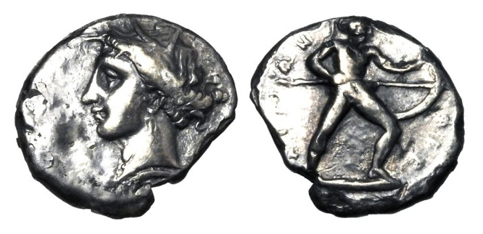 Messana drachm Pheraimon Agora Pegasi XXXIV lot 56 .jpg