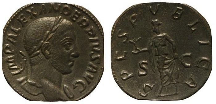 Severus Alexander sestertius VL Nummus floor auction 4-40