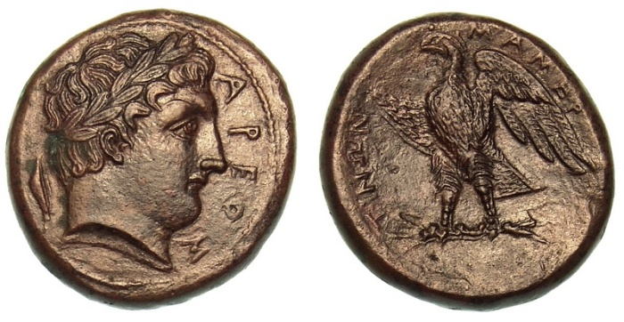 Mamertini quadrupla crippa numismatica